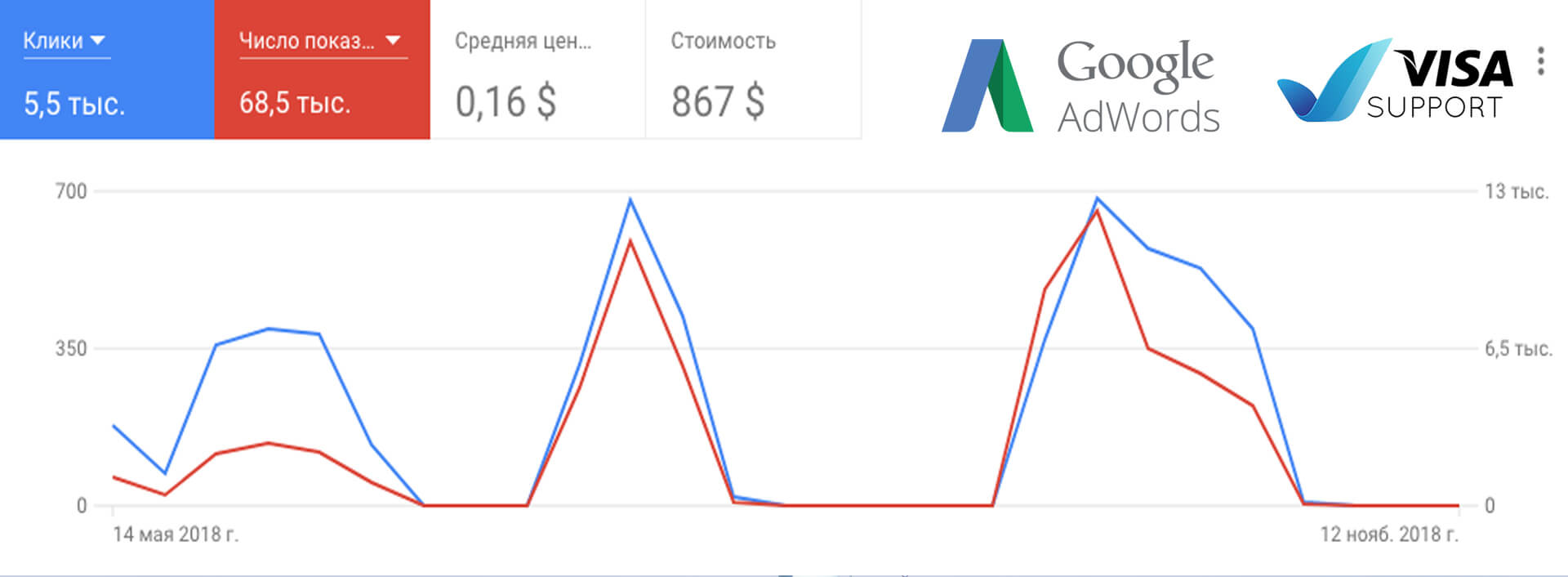 Visa Support - Google Adwords